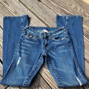 True Religion Becca Distressed Boot Cut Jeans